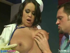 Huge tits slutty nurse fucks patient