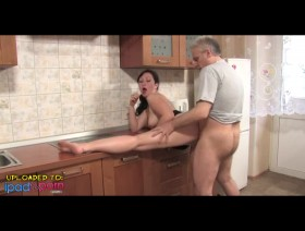 Mature Couple Prepare Dinner In The Kitchen. Eporn~