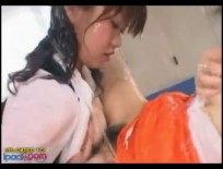 Japanese Girls Covered In Lotion part 1