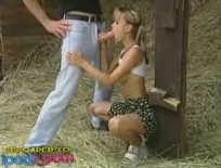 German teen gets pounded in the barn