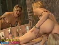 Fine ass lesbo bathroom fun