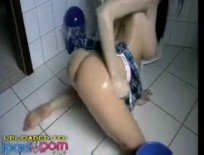 Getting Horny In Her Washroom