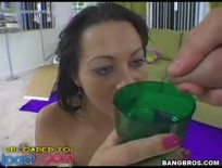 Brunette drinks cum from a glassipadPorn,pad,tablet,free