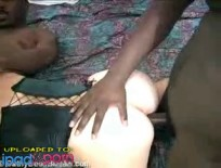 Double interracial actionAlayah Sashu - Five star oiled up ebony trunk gets slammed