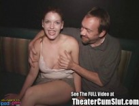 Candi Apple Gangbanged in a Porn Theater