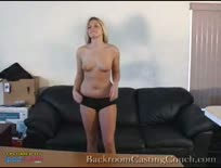 Blonde Tries Out for Porn