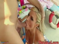 Blonde gets Throated