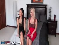 Play Time For Naughty Big Tit Blonde And Asia