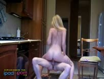 Hot Couple Fucking In Kitchen