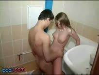 Horny Guy And Slut Take A Bath