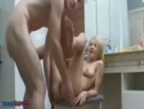 Blonde Amateur Enjoying Anal Sex & Cumshot