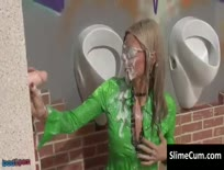 Horny Slutty Chick Gets Showered In Sperm