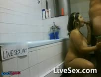 Big Titted Bbw Fucks In Bathroom