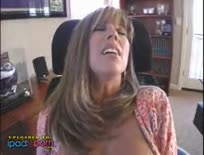 Busty Blonde Fucks in Home Office