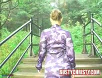Busty Christy,Park Masturbation,Part 1