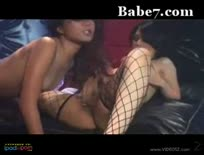 Hot asian babes pussy play