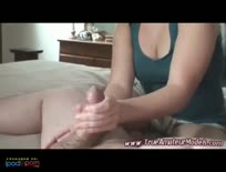 Amateur Girl Gives Blowjob And Handjob