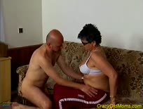 Crazy old mom gets fucked hard,1