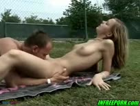Amateur teen fucked on the tennis court