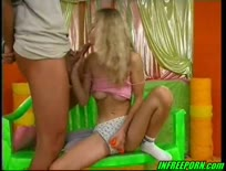 Hot young blonde cute teen casting sex