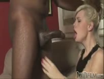 Black dude fucks white girl from behind