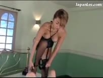Girl gets fucked hard by girl