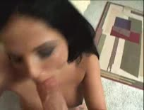 Gorgeous girl riding hard cock in her bedroom