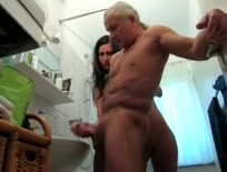 Handjob in Bathroom - Hardcore sex video