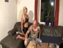 German Bitch Fucked by Old Fat Guy