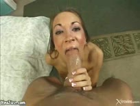 Horny babe is fucked hard by a large cock