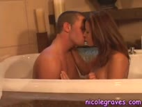 Hot bathtub sex scene