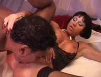 Interracial threesome - Hardcore sex video