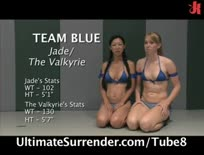 4 hot girls wrestle for the live audience - Hardcore sex video