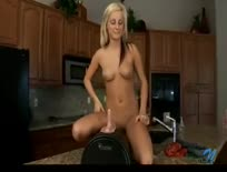 Fresh blonde hottie first sybian ride - Hardcore sex video