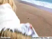 Blonde Girl Searches the Beach for Sex,ipad,tube,free,