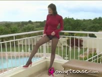 Black Pantyhose Carole In Tight Red Dress,ipad,tube,free,