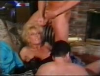 Debbie Diamond  and  peter north tt boy threesome