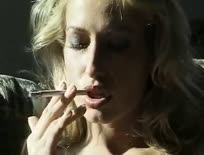 Smoking Fetish - Sophie Evans is smoking while masturbr - 1