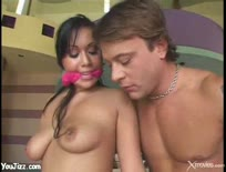 Avena Lee spanked and jizzed on