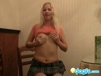 Russian Luba get horny and shows everything - 1