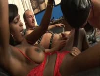 Shemale Interracial Threesome