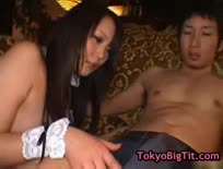 Amazing japanese babes riding cock