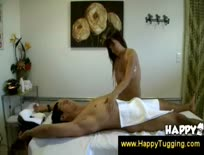 Asian masseuse with a handjob talent