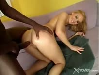 Horny Blonde Bitch Fucks A Black Dick