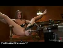 Spread legs Tori Black fucking machine